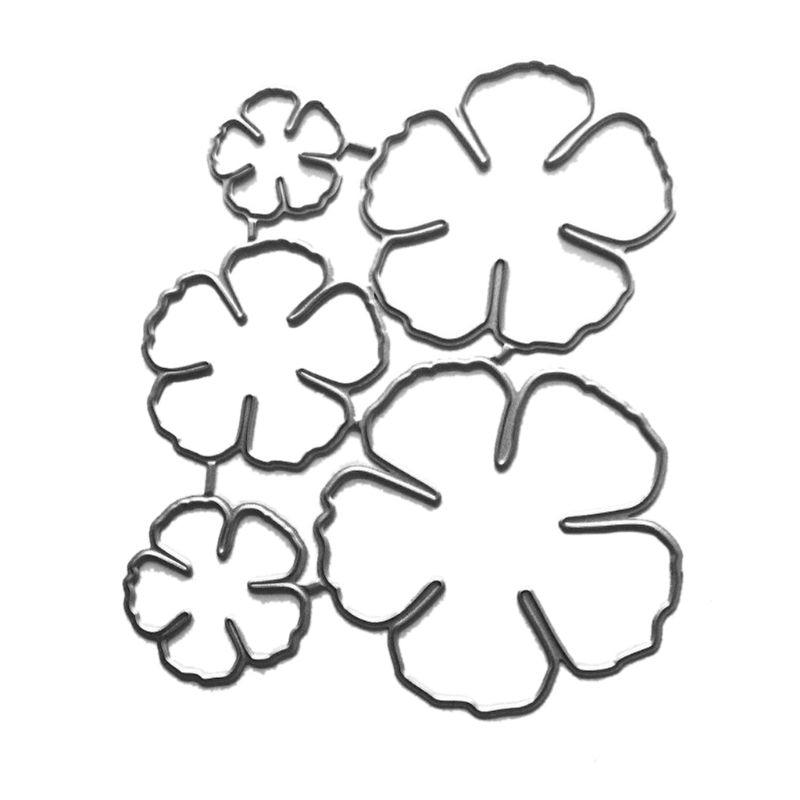Five Petal Flower Metal Cutting Dies Stencil Scrapbooking DIY Album Stamp Paper M6CE