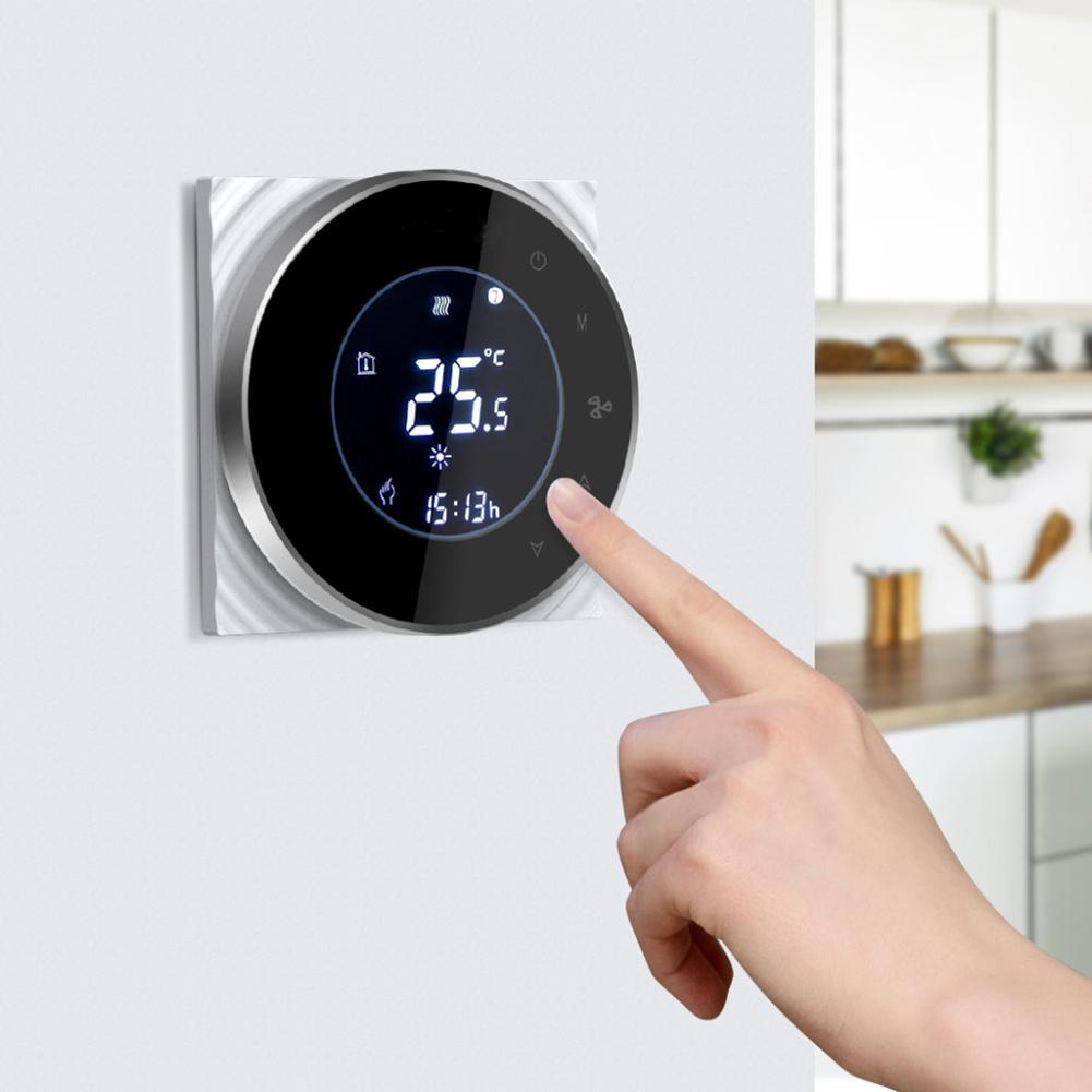WiFi Phone APP Control AC 95-240V Cooling Heating Air Conditioning Fan Thermostat Voice Control Smart Home