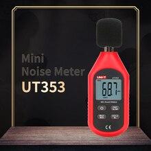 UNI-T UT353 мини-измеритель шума Цифровой уровень звука метр децибел 30~ 130 дБ шум звуковое устройство Удержание данных ЖК-подсветка