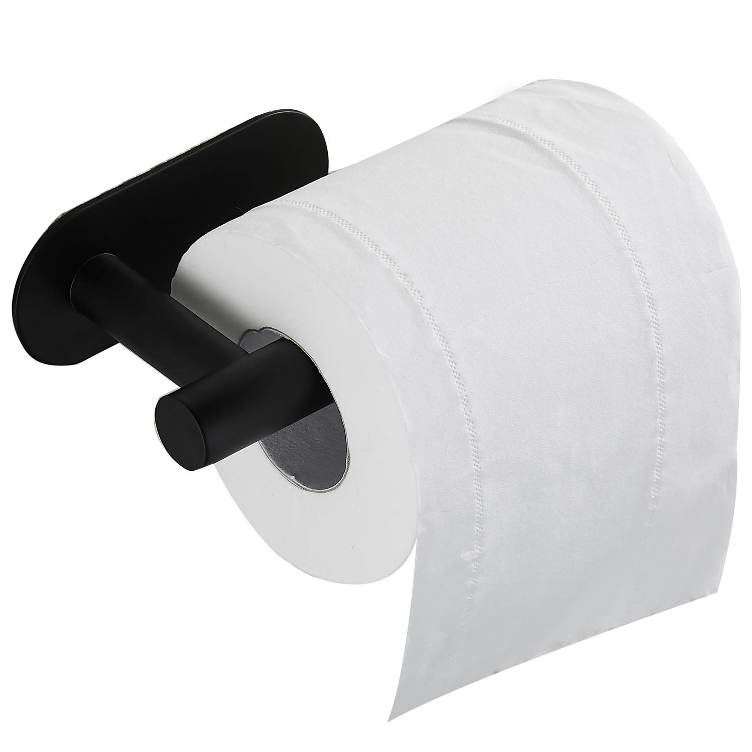 Black Or Silver Brushed Toilet Paper Holder Bathroom Kitchen No Drilling 304 Stainless Steel Tissue Holder Autohesion