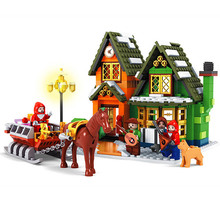 2019 New Christmas Sets City Serise Post Office Compatible With Legoinglys Model Building Blocks Bricks Toys Gift No Box B823