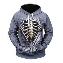 Mens Sweatshirt Hoodies Halloween Autumn Spring skull 3D Printing Long Sleeve Funny Sweatershirt Casual Tops Moletom
