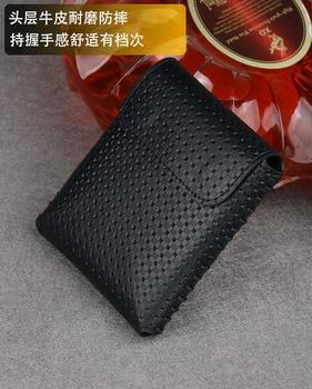 Aplicable para Samsung Galaxy Z Flip teléfono bolsa de Fold2 generación hechos a mano de cuero genuino