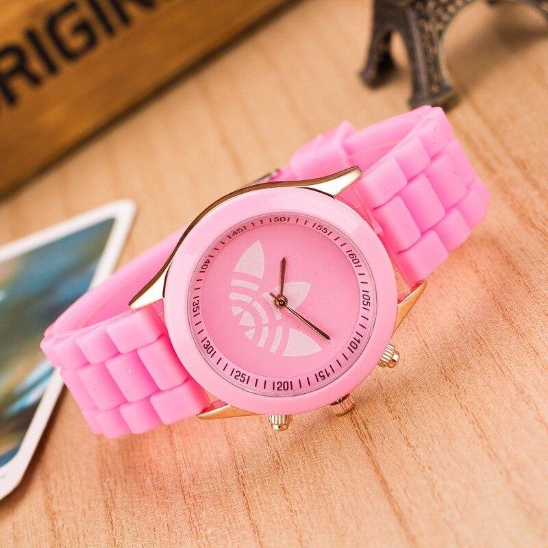 Zegarek Damski New Luxury бренды Женщины Часы Casual Fashion Кварц Часы Женщины Силикон Платье Наручные часы Dames Horloges