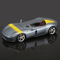 Bburago-coche deportivo Ferrari SP1, vehículo estático fundido a presión, modelo coleccionable, escala 1:24