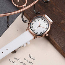 Fashion Gift Casual Jewelry Accessories Classical Durable Wrist Oval Dial Leather Strap Women Watch Quartz Movement Adjustable(China)