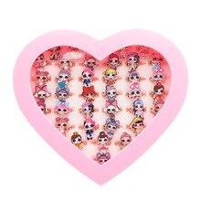 36 шт. куклы LOL surprise, Оригинальные фигурки, кольца, аниме, Мультяшные фигурки, игрушки для детей, подарки на день рождения для девочек, 1,5 см