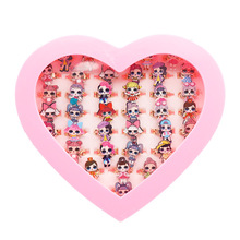 36 Uds LOL surprise dolls anillos de figura Original anime cartoon figura juguetes de acción niño cumpleaños Regalos para niñas 1,5 CM