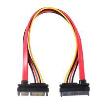 Yeni 7 + 15 Pin seri SATA veri güç Combo uzatma kablosu 1 adet seri güç adaptör kablosu sıcak satış TA SATA HDD kablosu