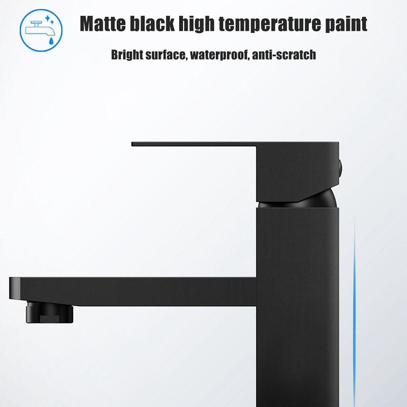 XUNSHINI Black Square Bathroom Sink Faucet Single Handle Basin Faucet Wash Tap Bathroom Toilet Deck Mounted XUNSHINI Black Square Bathroom Sink Faucet Single Handle Basin Faucet Wash Tap Bathroom Toilet Deck Mounted Basin Tap