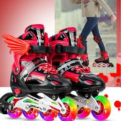 Patins enfants filles garçons patins de patinoire chaussures de patinage à roulettes 4 roues patins à roulettes chaussures de patinage enfants jeux jouets