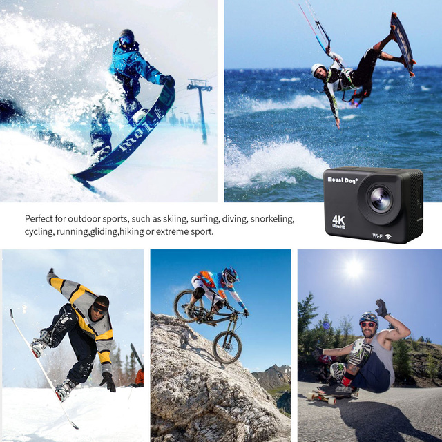 MountDog Underwater Ultra HD 4K Action Camera With WiFi Sports Video Recoding Waterproof Action Cam 5