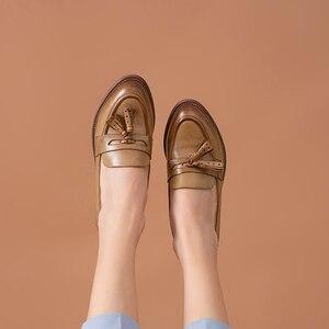 Image 5 - BeauToday – Mocassins à bout pointu en cuir véritable pour femme, chaussures en grandes tailles, chaussures à enfiler, peau de mouton, chaussures plates et décontractées, fait à la main, 27075