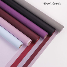 60cm*10yards/roll Gift Wrapping Paper Two-color Kraft Flower
