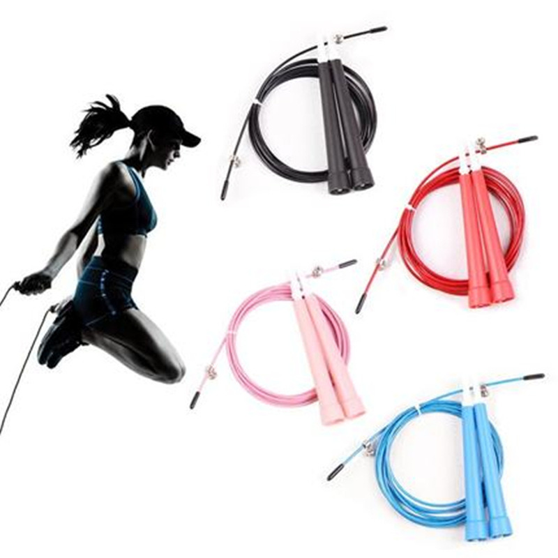 Profession Fitness Speed Jump Rope Steel Wire Speed Skipping The Academic Test For The Junior High School Students Game Adjustab