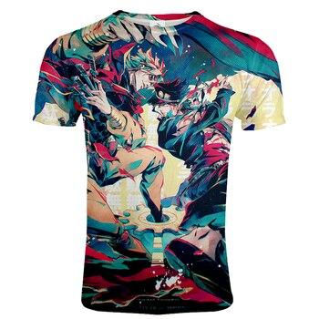 2020 Anime JoJo's Bizarre Adventure 3D Printed T-shirt Harajuku Fashion O-Neck Streetwear Men's Tshirt Hip Hop Tees Male T shirt 2