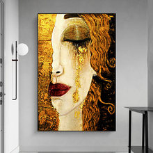 Abstract tears painting gustav klimt painting posters and prints the sitting room household adornment picture(China)