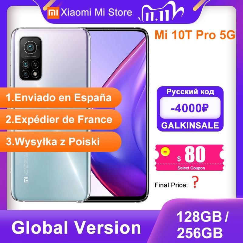 "Global Version Xiaomi Mi 10T Pro 8GB RAM 128/256GB ROM Smartphone Snapdragon 865 Octa Core 144Hz 108MP Camera 6.67"" DotDisplay Cellphones  - AliExpress"