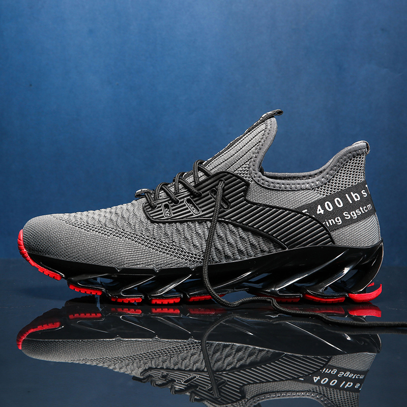 Новинка, мужские кроссовки для бега, бега, прогулок, спорта, высокое качество, на шнуровке, дышащие кроссовки - Цвет: 9115Gray