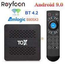 Tox1 android 9.0 smart tv box 4gb 32gb amlogic s905x3 5g duplo wifi 1000m suporte bt 4.2 4k media player dolby atmos áudio tvbox
