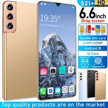 2021 Newest S21+ 6.6 Inch SmartPhone 10 Core MTK6889 24+50MP 12+512GB HD Full Screen Support Face ID 4G LTE 5G Cell Phones