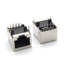 10 pcs RJ45 8P8C 18*13mm Modular Network PCB Jack 8P LAN Adapter Connector