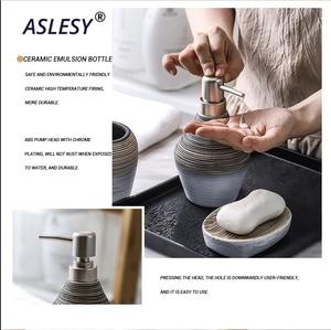 Image 4 - Retro ręcznie łazienka zestaw ceramiczna armatura łazienkowa uchwyt na szczoteczki do zębów dozownik do mydła butelka do balsamu kubek do płukania ust do przechowywania