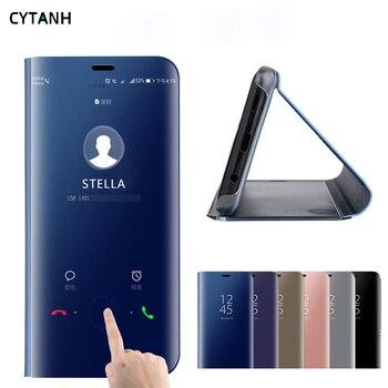 Funda abatible con espejo para Samsung Galaxy S9 Plus, S9plus, SM, G965F, G965, magnética, Original, de lujo, de cuero