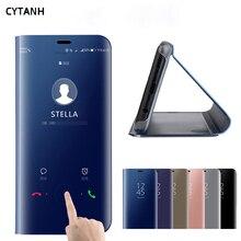 Зеркальный умный флип-чехол для Samsung Galaxy S9 Plus S9plus SM G965F G965, роскошный оригинальный магнитный чехол, кожаный чехол для телефона