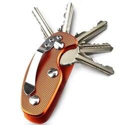 Najnowszy brelok ze stopu aluminium inteligentny portfel brelok EDC brelok do kluczy uchwyt klip organizer do kluczy Folder Keys Tool w Zewnętrzne narzędzia od Sport i rozrywka na