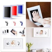 Ink Pad Photo Frame Children's Hand Foot Prints Baby Photo Frame Fingerprint Mud Children Decoration Baby Growth Memorial Gift