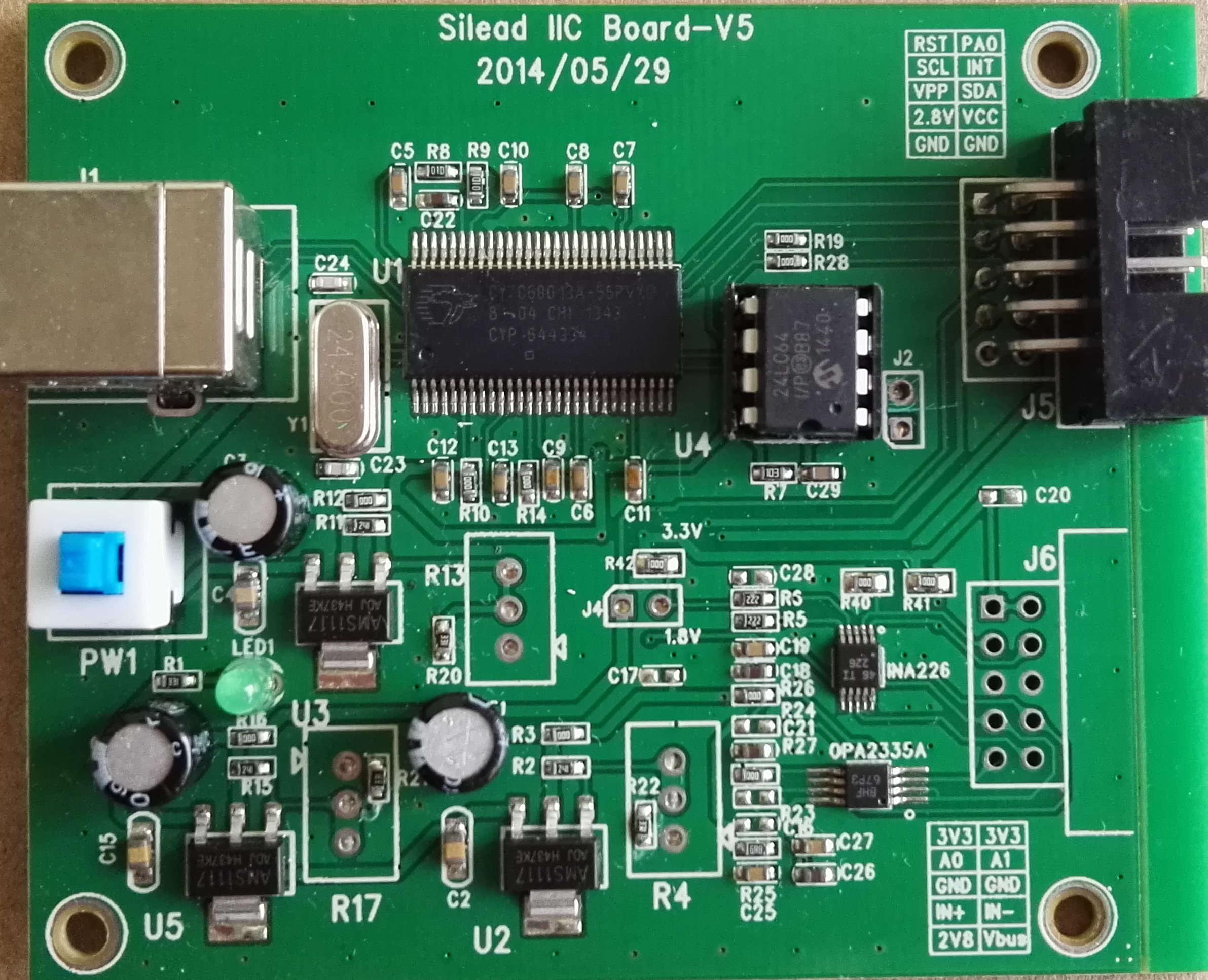 Silead Micro Capacitive Screen Test Board Burning Board Debug Board