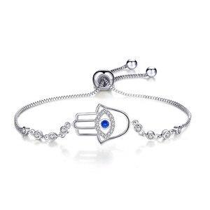 LIGHTDOG 2020 nowy rozliczenie kształt dłoni oko demona bransoletka gorąca sprzedaż wyczyść CZ kryształ regulowana bransoletka dla kobiet CMB80
