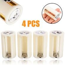 4pcs לd סוללה תיבה באיכות גבוהה 3x AA לגודל D הסוללה מתאם ממיר מחזיק Switcher מקרה תיבת עבור סוללה אחסון