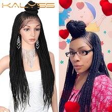 Kaylss 30นิ้ว13X7 Braided Wigsด้านหน้าลูกไม้สังเคราะห์ด้านหน้าวิกผมUpdo Braided Wigsผมเด็กสีดำผู้หญิงCornrow Braidedวิกผม