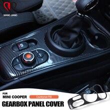 מכירה לוהטת מקורה מרכז קונסולת shift pannel abs מוגן כיסוי למיני קופר F60 countryman אביזרי רכב מדבקת כיסוי