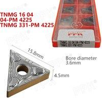 10PCS TNMG 16 04 04 PM 4225 TNMG 331 PM 4225 Internal Turning Tool CNC Carbide Insert Turning Tools Blade Cutter Lathe Blade
