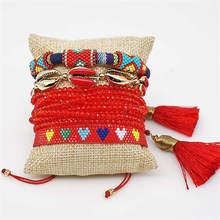 Go2boho Shell Bracelet Pulseras Mujer 2019 Evil Eye Delica MIYUKI Bohemian Heart Jewelry Handmade Bileklik Summer Gift