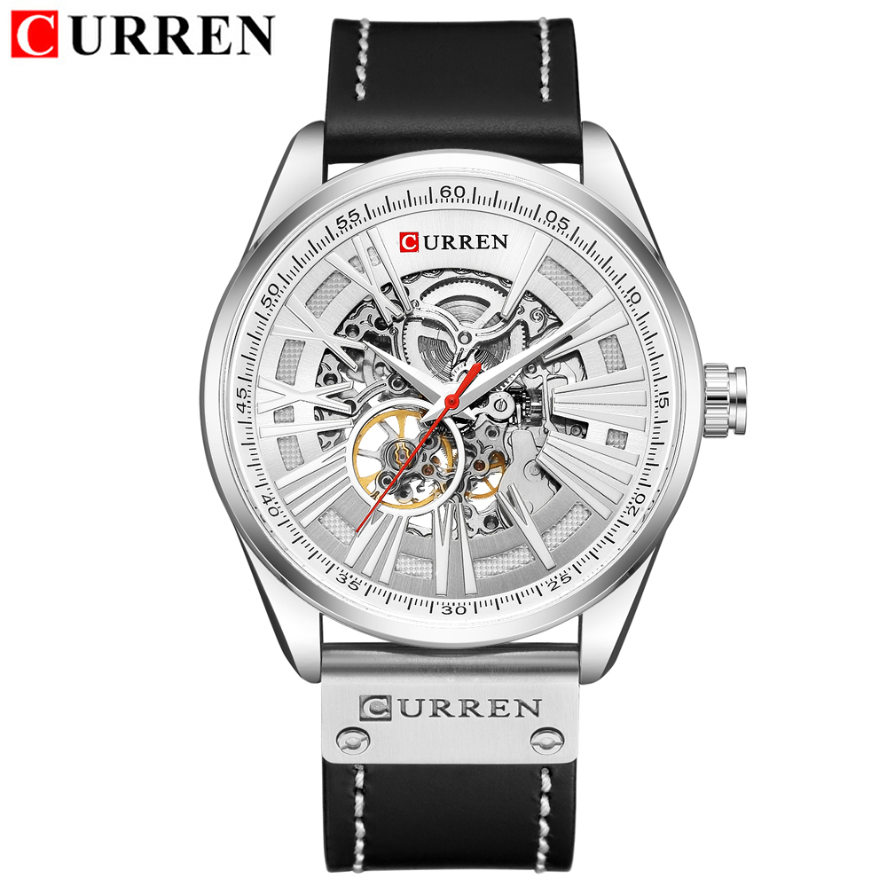 Hollow Automatic Mechanical Watches Men Fashion Luxury Brand Analog Watch Men's Waterproof Creative Wristwatch Relogio Masculino-in Mechanical Watches from Watches    3