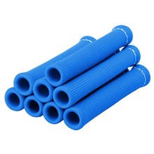 8PCS Blue-Spark Plug Wire Boots Heat Shield Protector Sleeve(China)