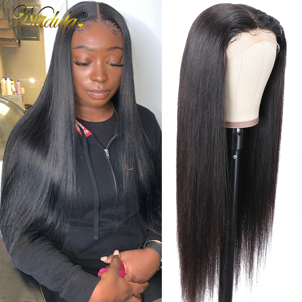 Nadula Straight Hair Deep Part Lace Frontal Wigs 13X1  Lace Front Wig T PART Lace Front Pre plucked Wigs 150 Density 1