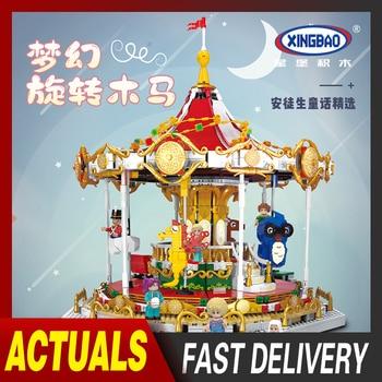 XingBao City Idea Series Friends Andersens Fairytales Carousel Model Building Blocks Kids Toys Merry-Go-Round Bricks