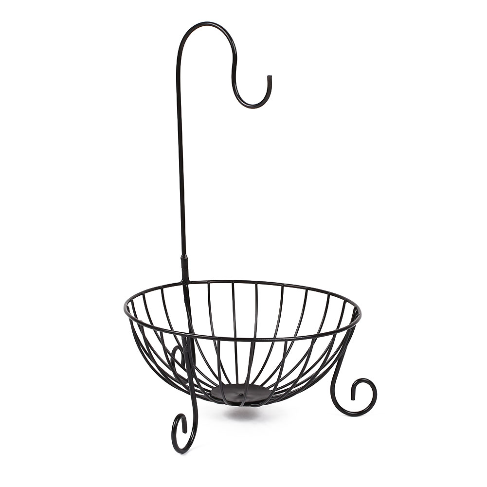 Banane en bois bambou Hanger Arbre Cuisine Fruit rack chrome Crochet Support de stockage