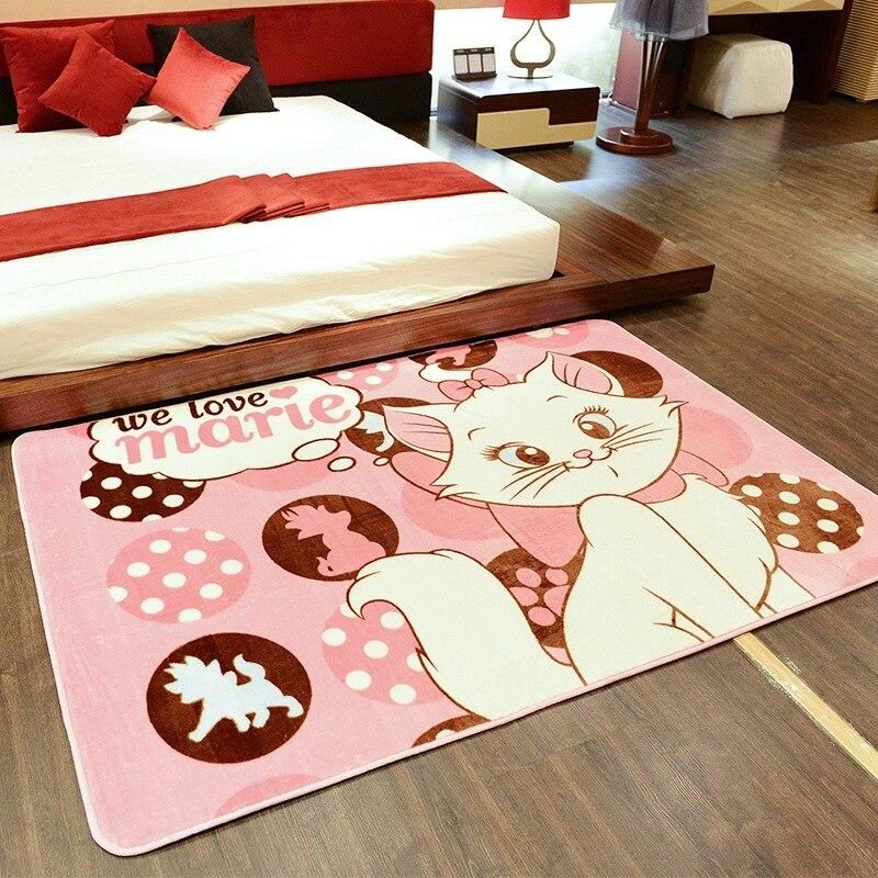 130X185 cm chat enfants bande dessinée tapis bébé ramper tapis antidérapant tapis pour salon chambre tapis maison décoration fournitures