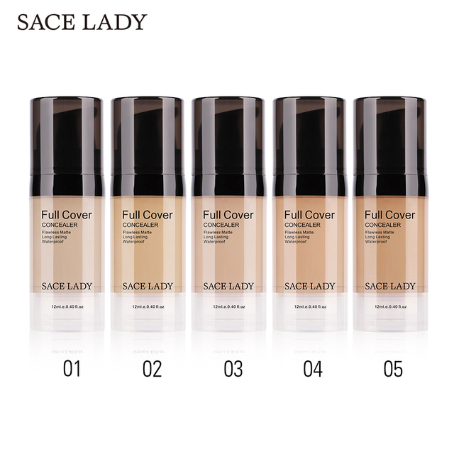 SACE LADY Face Concealer Cream Full Cover Makeup Liquid Facial Corrector Waterproof Base Make Up for Eye Dark Circles Cosmetic 3