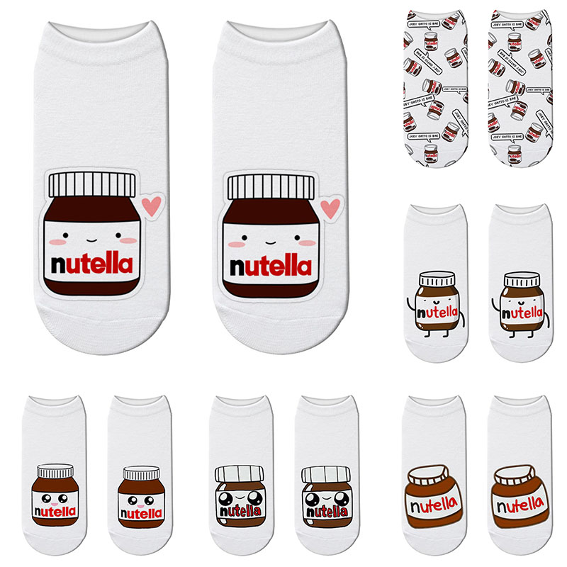 New Creative 3D Printed Unisex Socks Cute Mini Pattern Cute Pill Bottle Women Happy Cotton Low Ankle Socks Children Gift Socks