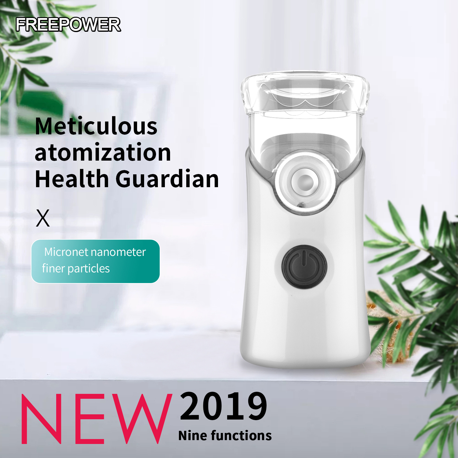 2019 new Protable  Automizer For Children Adult Inhale Nebulizer Ultrasonic Nebulizador Spray Aromatherapy Steamer Health Care-in Steaming Devices from Beauty & Health
