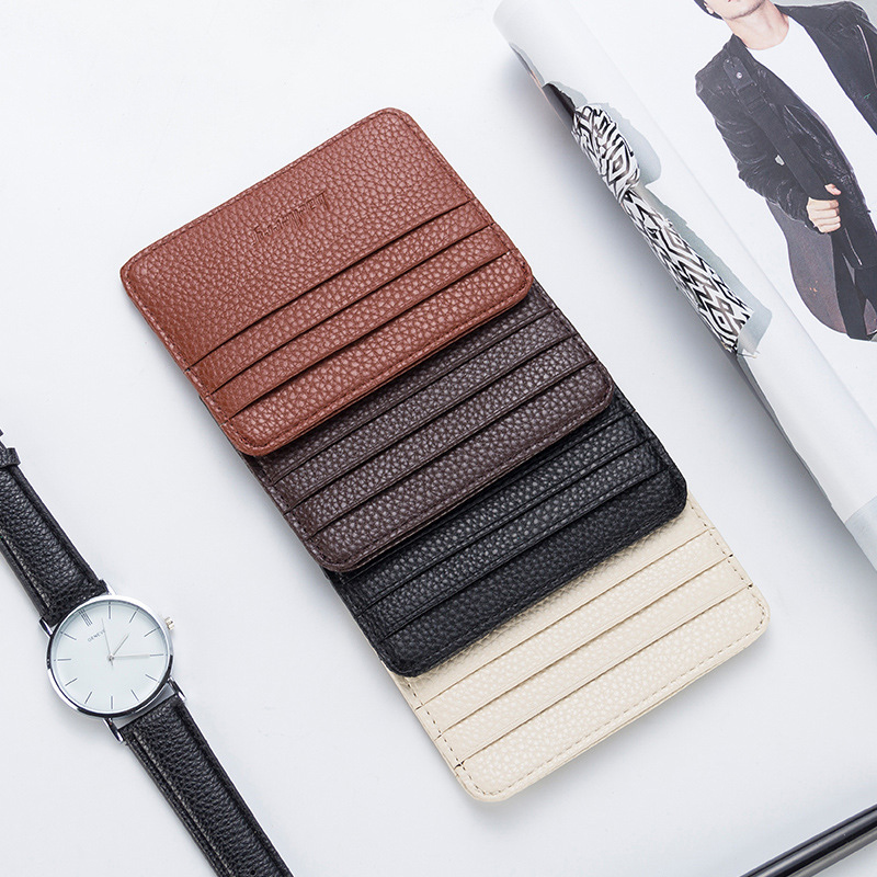 Fashion Women Slim Minimalist Wallet PU Leather Credit Card Holder Short Purse H9