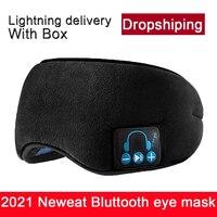 Mascarilla con Bluetooth para dormir, máscara 3D para música, en stock, envío directo con micrófono, diadema antiruido para llamadas