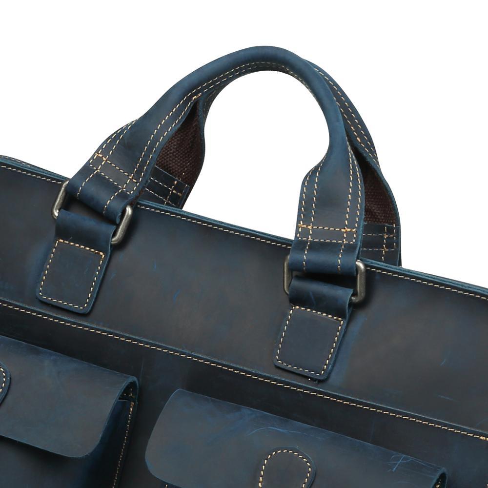 JOGUJOS, Ретро стиль, Crazy Horse, кожаный мужской портфель, натуральная кожа, мужской портфель, Кроссбоди, сумка на плечо, бизнес, Офисная сумка - 6